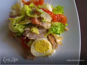 Легкий салат с индейкой