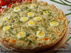 Тарт с капустой и перепелиными яйцами
