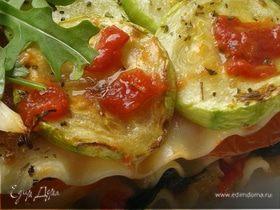 Лазанья с кабачками, шпинатом и сладким перцем