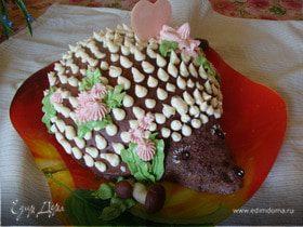 """Медово-шоколадный торт """"Ежик"""" с ананасом"""