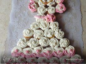 """Торт из капкейков """"Платье для принцессы"""""""