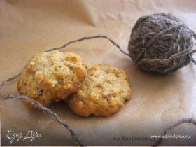 Овсяное печенье с шоколадом и черносливом