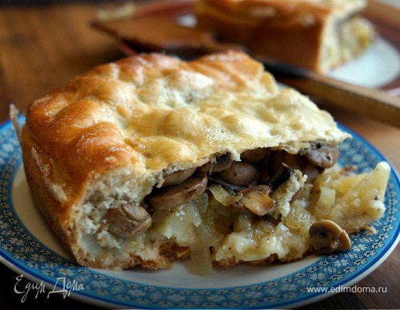 Монастырский грибной пирог