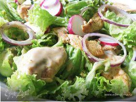 Салат с йогуртовым соусом