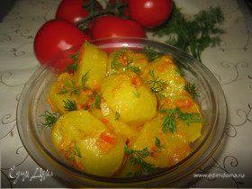 Картошка по-бомбейски с томатами