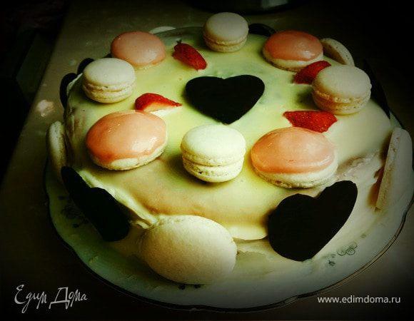 Бисквитный торт с макарони