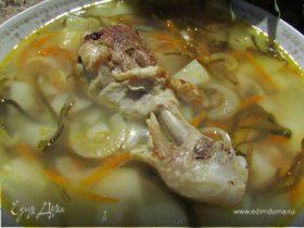 Куриный суп с морской капустой