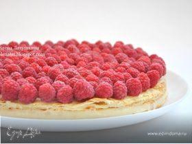 Польский пирог с малиной