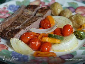 Стейк с томатной сальсой