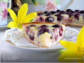 Дрожжевой пирог с черешней и белым шоколадом
