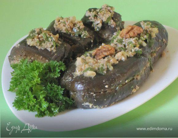Маринованые баклажаны с орехами и сельдереем