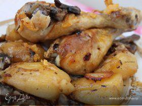 Куриные голени с картошечкой