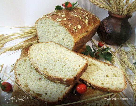 Хлеб с творогом и овсяными хлопьями