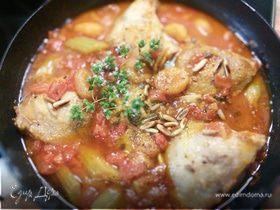 Курица с помидорами по-гречески