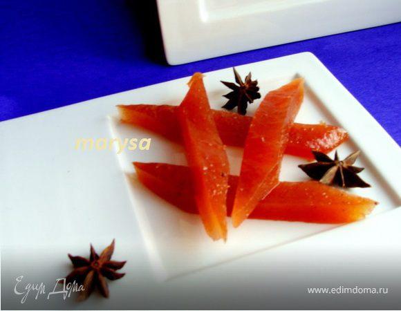 Яблочный мармелад с апельсином и корицей
