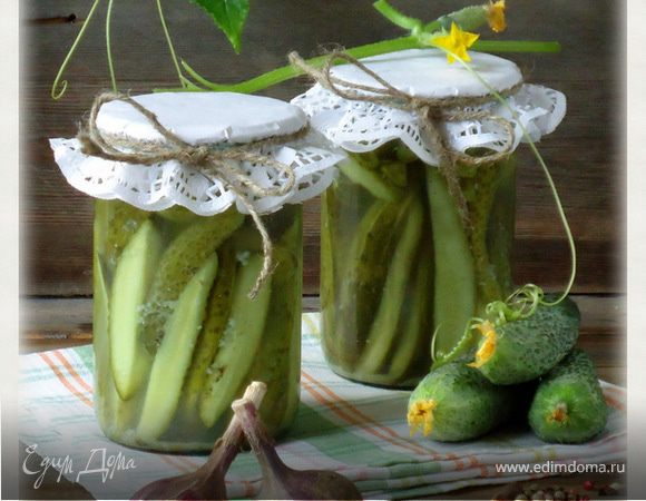 Огурцы, консервированные дольками