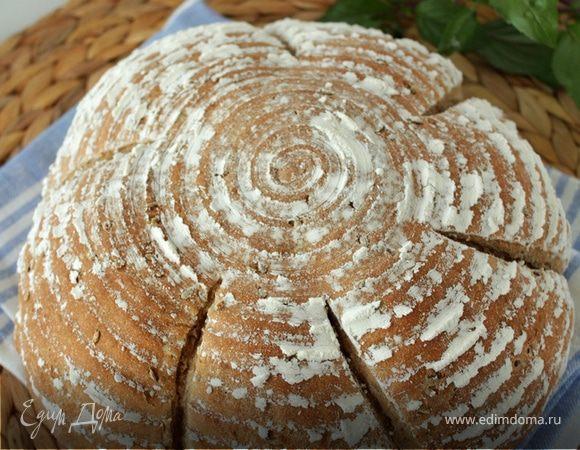 Хлеб с цельнозерновой мукой и семенами льна