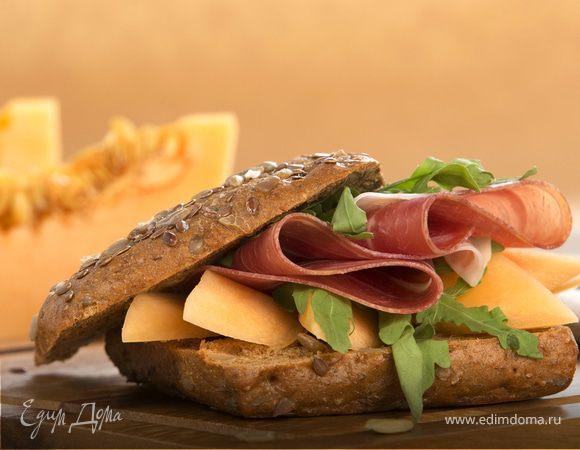 Сэндвич с дыней и пармской ветчиной