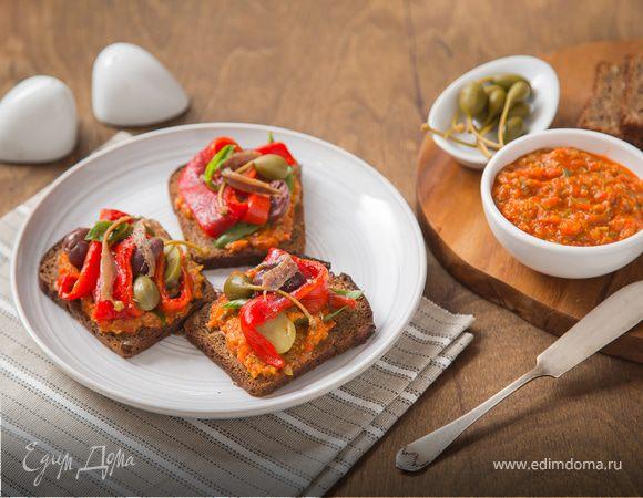 Паштет с печеным перцем – кулинарный рецепт