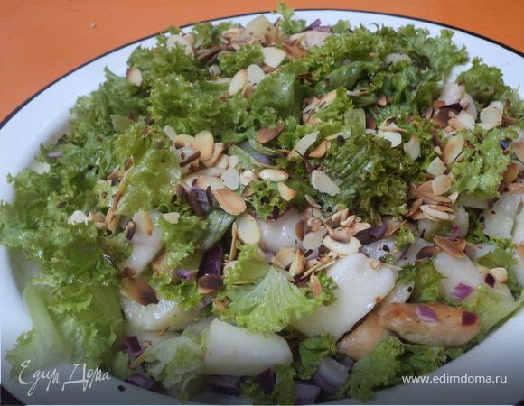 Салат из курицы с дыней