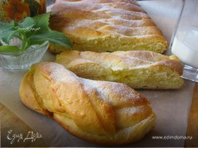 Пирог-косичка со сливочно-лимонной начинкой