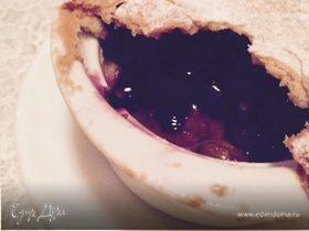 Фруктовый мини-пирог с виноградом