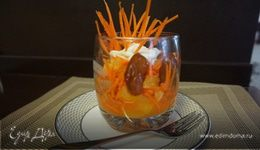 Салат морковно-апельсиновый с финиками