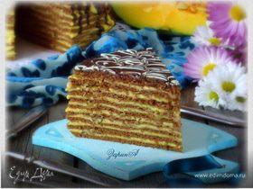 Торт медово-шоколадный с тыквенным кремом