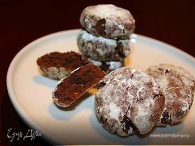 Шоколадные пряники с трещинками