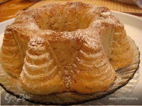 Пирог без яиц с яблочным пюре