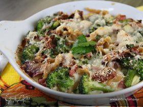 Гратен из пасты и овощей