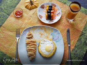 Завтрак в красках Хеллоуин
