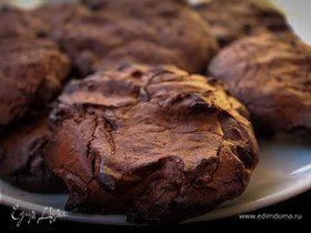 Печенье с горьким шоколадом