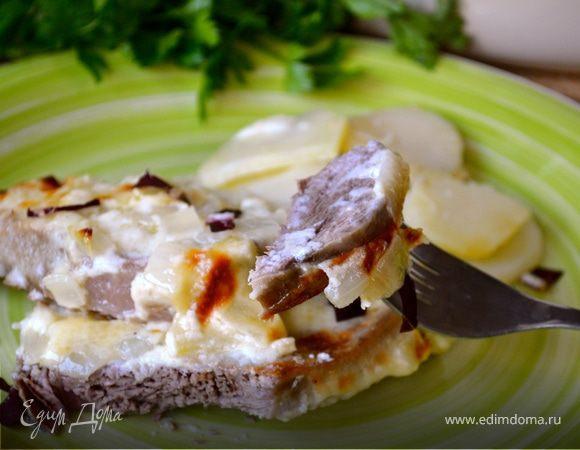 как приготовить говядину под сырным соусом