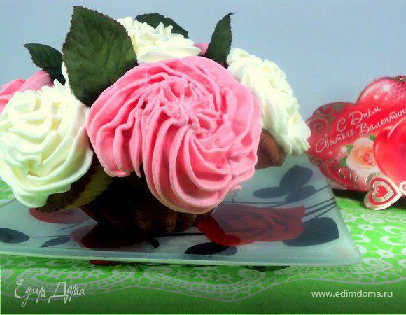 Капкейки «Букет роз»