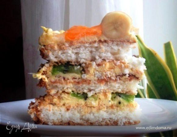 """Торт """"Кокосовый бум"""""""