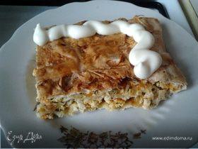 Куриный пирог из лаваша