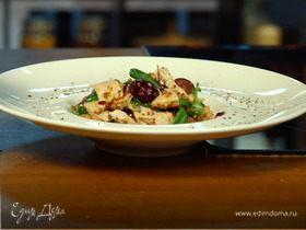 Slim-cалат с индейкой, виноградом и грецкими орехами
