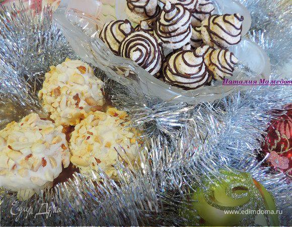 Арахисовое и кокосовое заварное безе