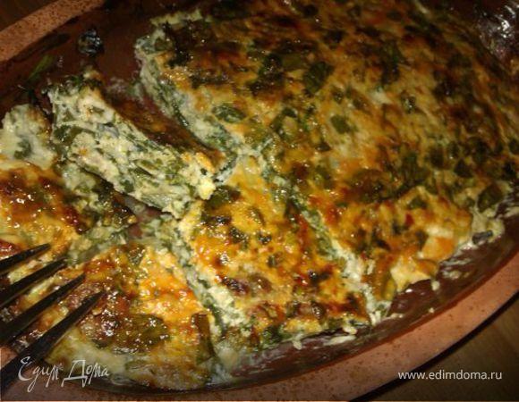 Запеканка из курицы с сыром и шпинатом