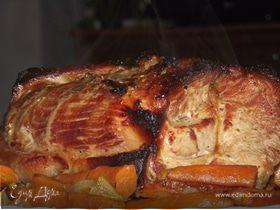 Свиная шея в медово-горчичном маринаде