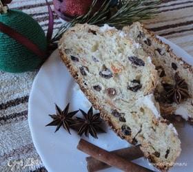 Рождественский штоллен с грецким орехом