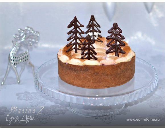 Шоколадный торт с маршмеллоу