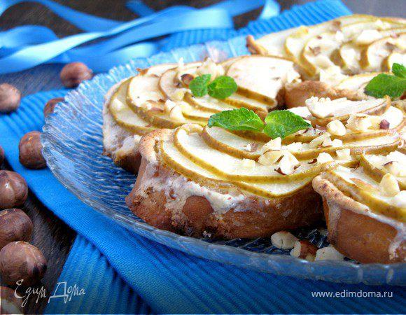 Десертные гренки с грушей и амаретто