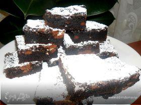Брауни с кофейным печеньем