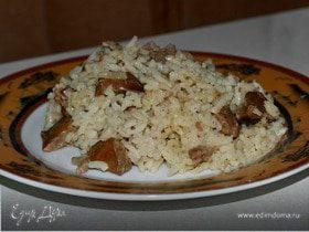 Рис с куриной печенью