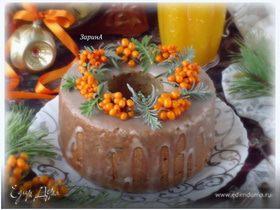 Праздничный тыквенно-облепиховый кекс