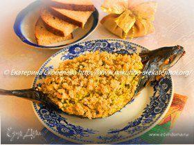 Скумбрия, фаршированная рисом