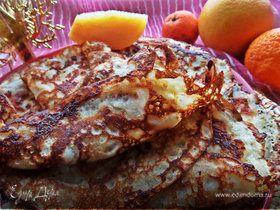 Блины с сыром и мясным припёком
