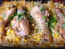 Ленивые куриные ножки с рисом
